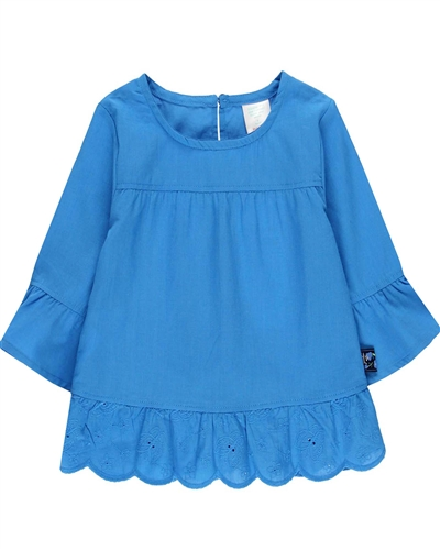 Boboli Girls Batiste Blouse with Bell Sleeves