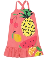 Boboli Girls Sundress in Fruits Print