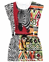 Boboli Girls Printed Jersey Dress