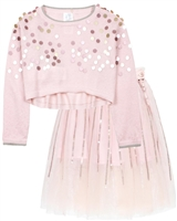 Boboli Girls Cropped Pullover and Tulle Skirt Set