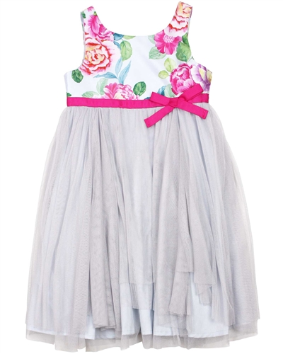 Boboli Girls Tulle and Satin Dress