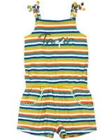 Boboli Girls Striped Terry Beach Romper