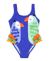 Boboli Girls One-piece Swimsuit with Parrots