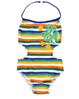 Boboli Girls One-piece Striped Swimsuit