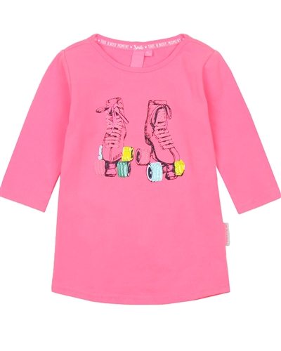 B.Nosy Top with Roller-Skate in Fluor Pink
