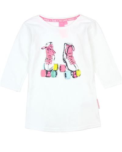 B.Nosy Top with Roller-Skate in White