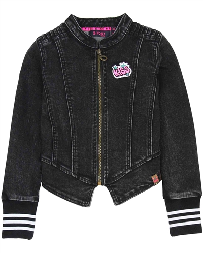 B.Nosy Sporty Denim Jacket in Black,