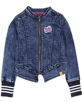 B.Nosy Sporty Denim Jacket in Dark Blue