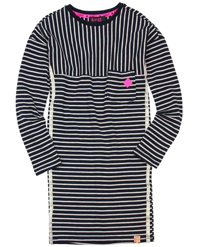 B.Nosy Striped Jersey Dress with Lurex