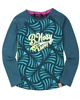 B.Nosy Raglan Sleeve Printed T-shirt in Turquoise
