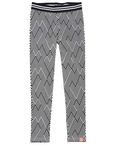 B.Nosy Terry Leggings in Zigzag Print
