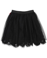 B.Nosy Lace Skirt with Tulle Overlay