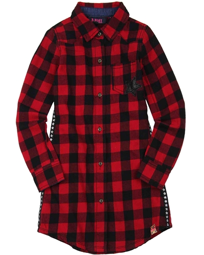 B.Nosy Plaid Dress