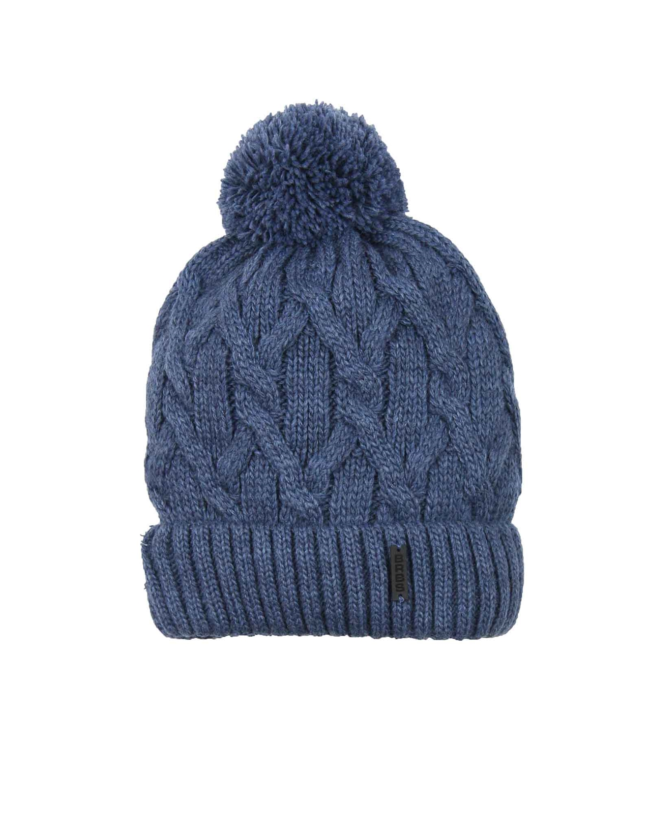Barbaras Boys  Cable Knit Hat in Blue with Pompom - Barbara Hats ... 73c4bc2e2eb