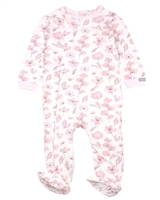 COCCOLI Baby Girls Zipper Footie in Floral Print