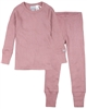COCCOLI Girls' Rib Jersey Pyjamas Set in Pink