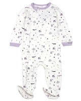COCCOLI Baby Girls Zipper Footie in Forest Print