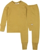 COCCOLI Boys' Waffle Pyjamas Set in Mustard
