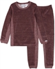 COCCOLI Girls' Velour Pyjamas Set in Rose