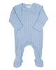 COCCOLI Baby Boys Rib Jersey Zipper Footie