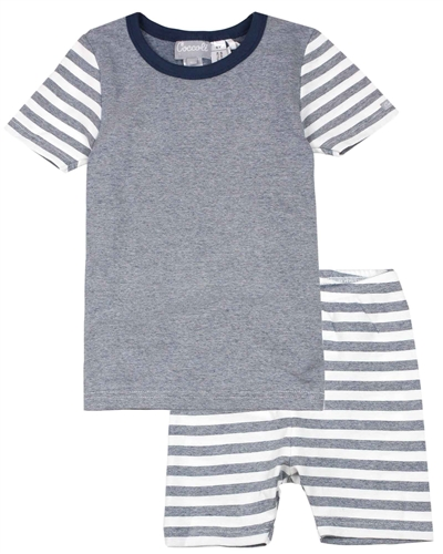 COCCOLI Boys Striped Shorts Pyjamas Set