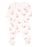 COCCOLI Baby Girls Zipper Footie in Whales Print