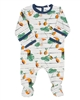 COCCOLI Baby Boys Zipper Footie in Toucans Print
