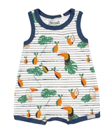 COCCOLI Baby Boys Romper in Toucans Print
