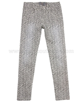 Creamie Girls Cheetah Print Denim Pants Leo