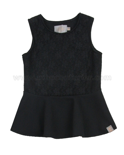 Creamie Girls Peplum Top Dea