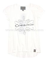 Creamie Girls Logo T-shirt White