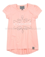 Creamie Girls Logo T-shirt Coral