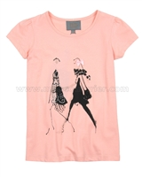 Creamie Girls T-shirt Bridget Coral