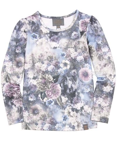 Creamie Girls Floral Print Top Enya