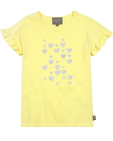 Creamie Girl's T-shirt with Flounce Sleeves