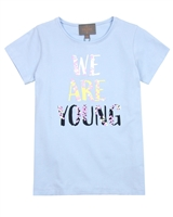Creamie Girl's We Are Young T-shirt in Blue