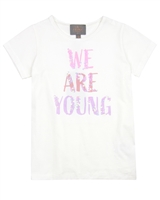 Creamie Girl's We Are Young T-shirt in White