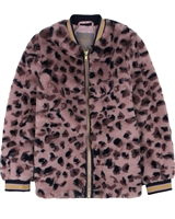 Creamie Girl's Faux Fur Coat in Cheetah Pattern