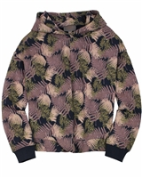 Creamie Girl's Cropped Sweatshirt in Leaves Print
