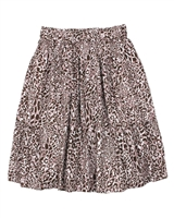 Creamie Girl's Skirt in Leopard Print
