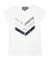 Creamie Girl's T-shirt with Sequin Arrows