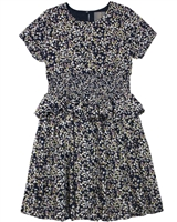 Creamie Girl's Dress in Small Floral Print