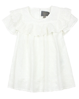 Creamie Girl's Embroidered Blouse