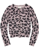 Creamie Girls Cheetah Print Knit Cardigan