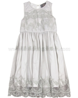 Creamie Girls Embroidered Tulle Dress Maja