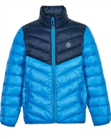COLOR KIDS Boys' Transitional Quilted Jacket in Blue