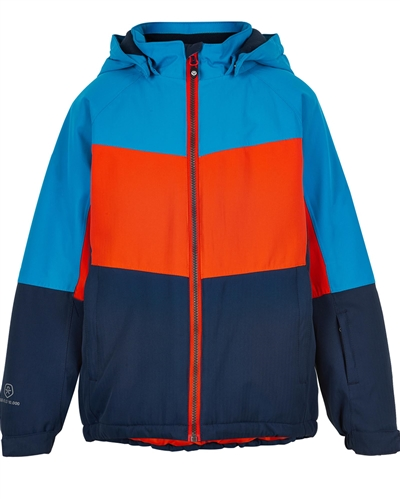 COLOR KIDS Boys' Colour-block Ski Jacket in Red