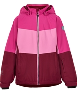COLOR KIDS Boys' Colour-block Ski Jacket in Fuchsia