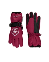 COLOR KIDS Girls Ski Gloves in Burgundy