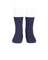 CONDOR Boys' Basic Short Socks in Navy